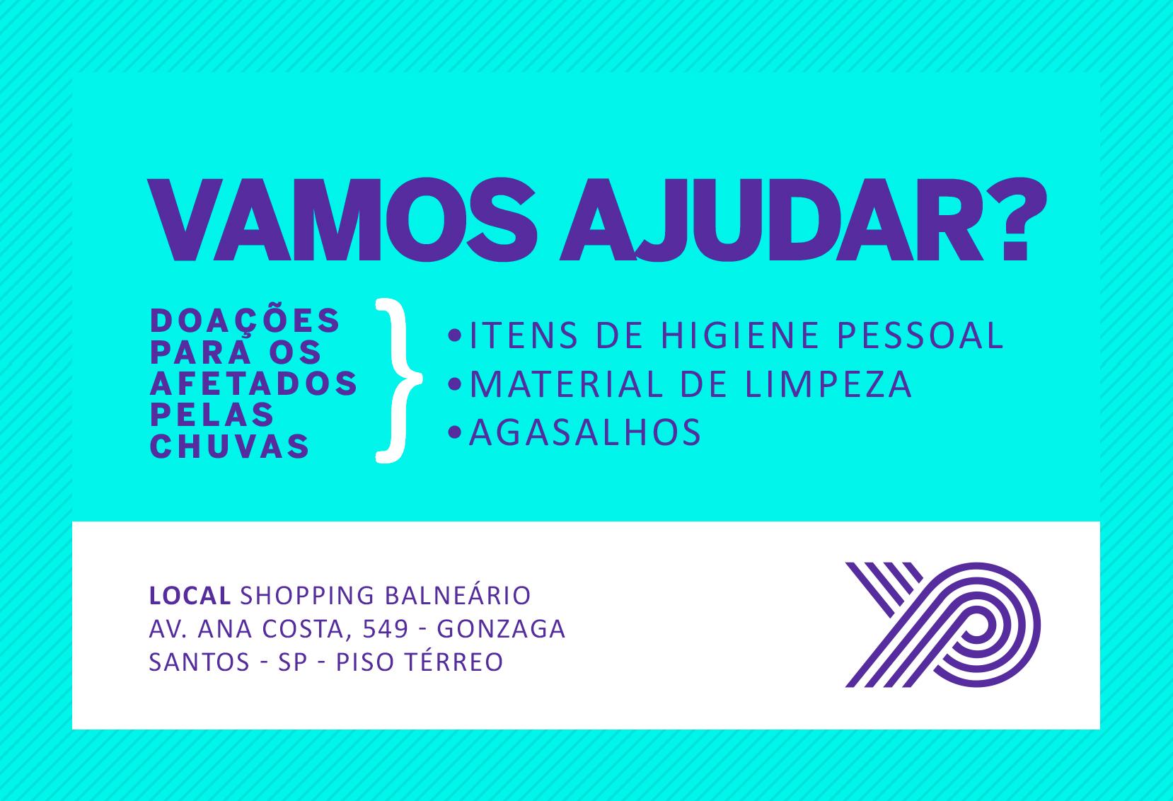 Shopping Parque Balneário Recolhe Doações Para Desabrigados