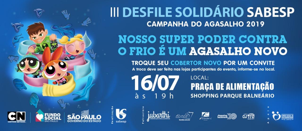 Shopping Parque Balneário Sedia 3º Desfile Solidário De Moda Sabesp